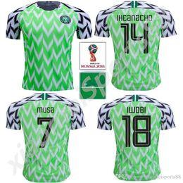 b0f09eb29 2018 World Cup Nigerian Soccer Jerseys 9 STARBOY 10 MIKEL NDIDI SHEHU 14  IHEANACHO 7 MUSA 18 IWOBI Custom Home Away Football Shirt.