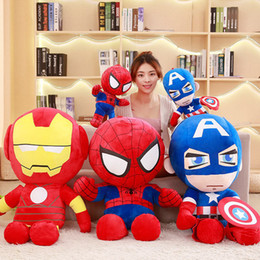 $enCountryForm.capitalKeyWord Australia - 1pc 25cm 35cm 45cm Soft Stuffed Super Hero Captain America Iron Man Spiderman Plush Toys The Avengers Movie Dolls for Kids Birthday Gift