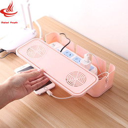 Cable Shoes Australia - Plastic Power Strip Cord Socket Storage Box Electric Wire Storage Organizer Cable Collect Cases Power Strip Cord Storage