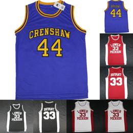 ece03b13042  33 Kobe Bryant Lower Merion College Jersey Mens 44 Hightower Crenshaw High  School Bryant Basketball Jerseys Red Black White Blue S-XXXL