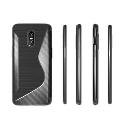 Case Tpu S Gel Australia - S Line Brushed Silicone Soft TPU Gel Back Cover Skin Bag For One Plus 6T 5G For Oneplus 7 Phone Funda Cases