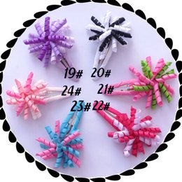 "$enCountryForm.capitalKeyWord NZ - HOT SALE Baby Good Girl 1.5"" Corker Hair Bow Snap Clip korker O A- ponytail holders streamer corker curly ribbon hair bows clips 50PCS"