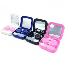 Easy Carry 1pc Travel Glasses Contact Lenses Box Contact Lens Case For Eyes Care Kit Holder Container Gift Drop Ship Men's Glasses Eyewear Accessories