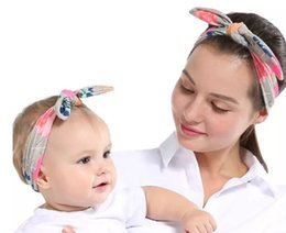 $enCountryForm.capitalKeyWord Australia - 2018 best selling printed mother and child suit fashion parent-child rabbit ear hair band popular baby hair band Hair Accessories DHL ship