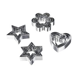 Baking Shape Cutter Australia - akeware Baking Pastry Tools 5 Pc Round Star Heart Flower Shape Cookie Biscuits Cutters Stainless Steel Muffins Crumpets Molds Set Baking ...