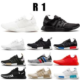 23ec1a8a7 Cheap 2019 Wholesale NMD R1 Running Shoes Japan red gray Runner Primeknit PK  Low For Mens Womens Classic Fashion Sport Shoe Designer Sneaker