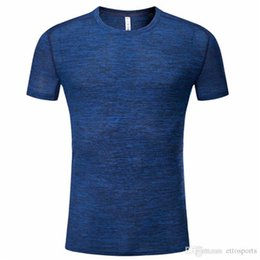Wholesale soccer jersey t shirt for sale – custom Men Sport Tennis Shirt Outdoor Clothing Kit Running T shirt Sportswear Table Badminton Soccer Jerseys Quick Dry Fitness Clothes