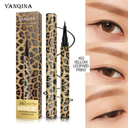 leopard pens Australia - YANQINA leopard eyeliner waterproof sweat-proof not blooming eyeliner liquid black eye Professional makeup liners Pens woman cosmetic