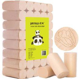 DHL Nave bambù e legno in fibra di carta igienica greggi naturali e senza Aggiunto a quattro strati Necessities quotidiano Laminati di trasporto in Offerta