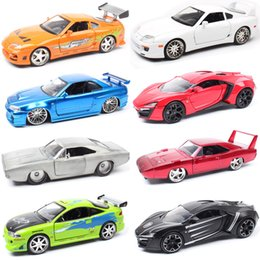 toyota toy car models NZ - 1 24 Jada Mitsubishi Eclipse TOYOTA SUPRA DODGE Charger Nissan Ripsaw crawler Lykan Diecasts & Vehicles model scale toy car kids CJ191212