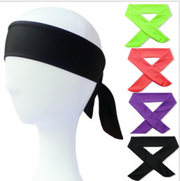 back hair men UK - Sport Yoga Headbands Solid Tie Back Stretch Sweatbands 22Color Hair Bands Moisture Wicking Men Women Headwrap scarf for Running Jogging C396