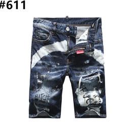 $enCountryForm.capitalKeyWord UK - Men's Distressed Ripped Skinny Jeans Fashion Designer Shorts Jeans Slim Motorcycle Moto Biker Causal Mens Denim Pants Hip Hop Men Jeans #806