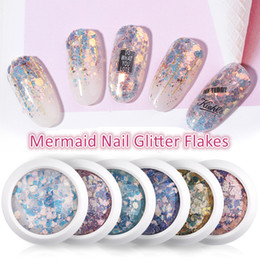 Nails flake online shopping - Nail Mermaid Glitter Flakes Sparkly D Hexagon Colorful Sequins nail glitter Spangles Polish Manicure Nails Art Decorations