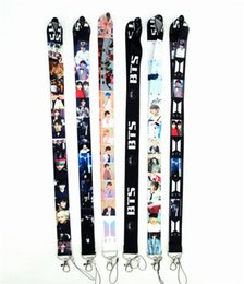 phone holder lanyard Australia - Neck Lanyard Bangtan Boys Neck Strap Lanyards for keys ID Card Gym Mobile Phone Strap USB Badge Holder Rope lanyard