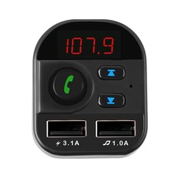 fast card UK - Bluetooth Car MP3 Player Wireless FM Transmitter Car Audio Receiver Adapter support TF with 5V 3.1A Fast USB car Charger