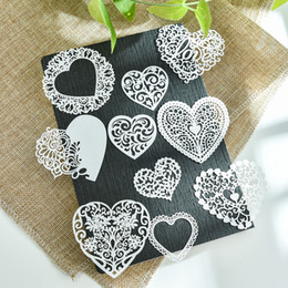 kids craft making NZ - Cheap Craft Paper YPP CRAFT 10pcs White Lace Hearts For DIY Scrapbooking Card Making Kids Fun Decoration Supplies