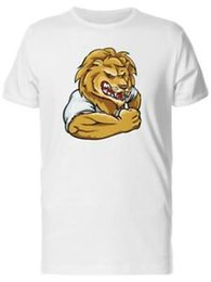 Fashion cartoon images online shopping - Strong Cartoon Lion In A Shirt Men s Tee Image by Unisex