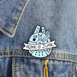 "$enCountryForm.capitalKeyWord NZ - ""HUNK O JUNK"" Cute Pins Combination Personality Brooch Lapel Denim Ornament Brooch Special Blue Backpack Badge"