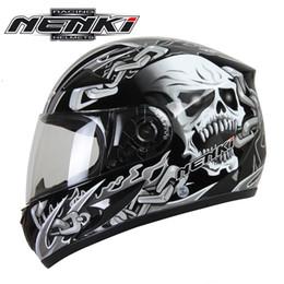 Xxl Motorcycle Half Helmets Australia - NENKI Motorcycle Helmet Black Moto Full Face Retro Scooter Helmets Motorbike Riding Helmet Men Motocross Helmet Casco Moto