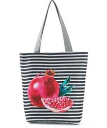 plains prints UK - New pineapple element printed ladies cloth bag Korean version of fruit pattern shoulder bag 01