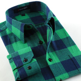 $enCountryForm.capitalKeyWord Australia - Men Flannel Plaid Shirt 100% Cotton 2017 Spring Autumn Casual Long Sleeve Shirt Men Soft Cherecked Slim Fit Shirt Brand Clothes