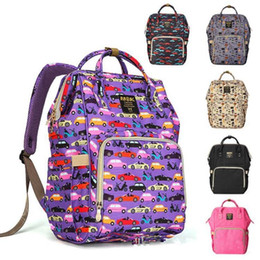 BaBy changing Backpacks online shopping - Upgraded Diaper Backpacks Cartoon Print Baby Mommy Changing Bag Nappy Mother Maternity Backpacks Stackers Handbag MMA1495