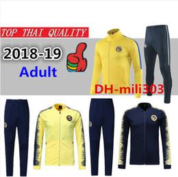 e5f59ce85 2018 2019 Mexico club America jacket training suit 18 19 GUERRON CALDERON  CASTILLO football kit Cougar UNAM Football jacket tracksuit