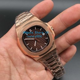 $enCountryForm.capitalKeyWord Australia - Quality Rose Gold Super Wristwatches Brown Dial 40mm Nautilus 5711 1R 2813 Mechanical Transparent Automatic Mens Watch Watches 40mm