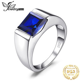 $enCountryForm.capitalKeyWord Australia - ring charm JewelryPalace Men's Square 3.3ct Blue Created Sapphires Engagement Ring Solid 925 Sterling Sliver Fine Jewelry Brand New Gift