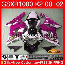 $enCountryForm.capitalKeyWord Australia - Frame For SUZUKI rose white new GSXR 1000 K2 GSXR1000 2000 2001 2002 Body 14HC.131 GSX R1000 00 02 GSXR-1000 GSX-R1000 00 01 02 Fairings kit