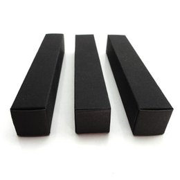 $enCountryForm.capitalKeyWord Australia - 100pcs lot-2*2*12cm Black Paper Box For Essential Oil Perfume Sample Bottle Lipstick Stroage Boxes Craft Gift Boxes Valve Tubes T190709