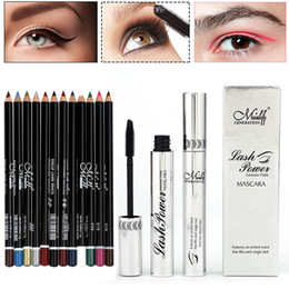 $enCountryForm.capitalKeyWord Australia - Long-lasting Waterproof False Eyelashes Makeup Mascara+12 Pcs Black Eyeliner Pencil Set Durable X