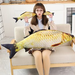 $enCountryForm.capitalKeyWord Australia - 2019 1pc 30cm Fashion Simulation Carp Stuffed Fish Plush Toys Pillow Kids Creative Sofa Bed Pillow Appease Baby Kids Toy Christmas Gift