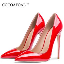$enCountryForm.capitalKeyWord Australia - Cocoafoal Women's High Heels Shoes Wedding Pumps Sexy Plus Size Party Patent Leather Flock High Heels Shoes Pointed Toe 2019