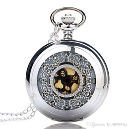 $enCountryForm.capitalKeyWord Australia - 2018 New Arrivals Hollow Silver Pendant Quartz Pocket Watch Gold Color Arabic Number with Necklace Chain Luxury Jewelry Gifts for Men Women