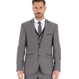 $enCountryForm.capitalKeyWord Australia - Light Grey Formal Suit Groom Tuxedos Mens Suits for Wedding 3 Pieces Wedding Tuxedos for Men Slim Fit Jacket+Pants+Vest