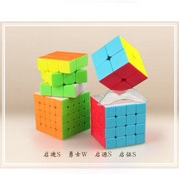 neo toys Australia - Qiyi Bundle 2x2x2 3x3x3 4x4x4 5x5x5 Magic Speed Cube Puzzle 4PCS Set Gift Pack Kid Toys Stickers neo magico cubo