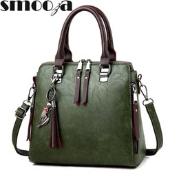 $enCountryForm.capitalKeyWord Australia - Vintage Leather Women's Handbags Ladies Messenger Bags Totes Tassel Designer Crossbody Shoulder Bag Boston Hand Bags