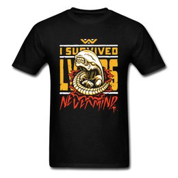 T i sTyle cloThing online shopping - I Survived T shirt Men Alien T Shirt Nevermind Tops Tees Cartoon Tshirt Mutant Clothing Style Summer Apparel