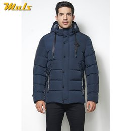 mens padding jacket long NZ - MuLS 5XL -40 'C Winter Warm Men Long Jackets Coats Wind Resistant Autumn Thick Fleece Hooded Jacket Mens Cotton Padded 2019 New