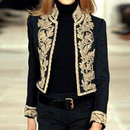 $enCountryForm.capitalKeyWord NZ - Autumn Winter Blazer Jacket Women Long Sleeve Open Front Short Cardigan Suit Jacket Cool Work Office Coat Top chaleco de las