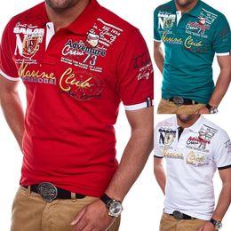 $enCountryForm.capitalKeyWord Australia - Zogaa Short Sleeve Casual T Shirts Turn-down Collar Letter Polyester Men Fashion Personality 2019 T Shirt Men J190719