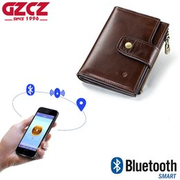 Trade Key Australia - New foreign trade cross-border men's tri-fold wallet RFID leather high-end wallet smart anti-lost anti-theft purse