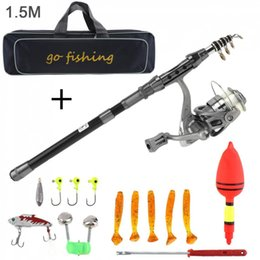 $enCountryForm.capitalKeyWord Australia - Carbon Fiber Fishing Rod Reel Combo Full Kits 2000 Spinning Reel Line with Fishing Bag Soft Lures Float Hook Jig Head