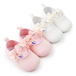 $enCountryForm.capitalKeyWord Australia - Baby Girls Shoes Elastic Bow Cute Little Flowers Princess Shoes Soft Sole Non-slip First Walkers