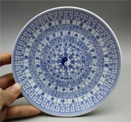 Chinese Porcelain Painting Australia - Chinese exquisite porcelain plate painted Chinese ancient pattern: gossip map: blue