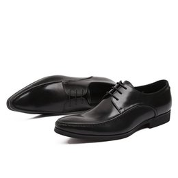 $enCountryForm.capitalKeyWord NZ - High-quality black men's leather suit shoes, fashionable lace-up pointed simple design of classic office professional shoes