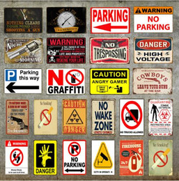 Wholesale Advertising Signs Australia - Tin Signs Route 66 Warning Metal Signs Tin Poster Caution Danger No Smoking Wall Art Painting Advertising Board Vintage Home Decor