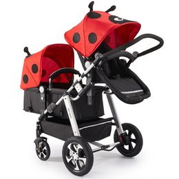 Fashion baby strollers online shopping - Fashion Folding Twins Stroller Can Sit Can Lie Baby Stroller for Newborns Baby Pram for Children With Excellent Suspension