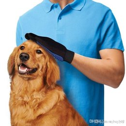 blue pet supplies Australia - Pet Hair Glove Dog Brush Comb For Pet Grooming Dog Glove Cleaning Massage Supply For Animal Finger Cleaning Cat Hair Glove